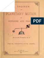 A Theorem on Planetary Motion; Or, Sunshine and Shadow