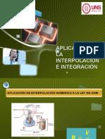 Aplicación de la Interpolación e Integración