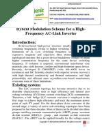 Hybrid Modulation Scheme for a High-Frequency AC-Link Inverter