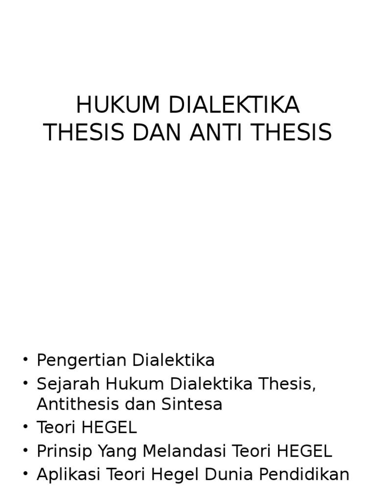 dialektika hegel thesis