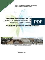 """Ghidul solicitantului pentru proiectul """"Controlul Integrat al Poluării cu Nutrienţi"""" August 2016"""