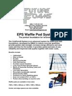 Future Foams EPS Waffle Pod Manual 2015