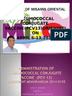 Administration of Pneumococcal Vaccine
