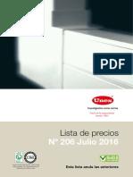 Unex Lista de Precios 206 Julio 2016