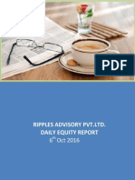 Daily Equity Market By Ripplesadvisory Report 7th Oct 2016