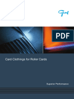 Card Clothings for-Roller Cards En