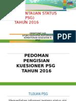 Cara Pengisian Kuesioner Rumah Tangga Psg 2016