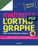 Mairtisez l'Orthographe Avec La Certification Voltaire - Eyrolles