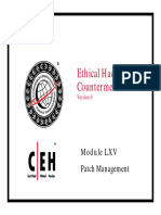 CEHv6 Module 65 Patch Management