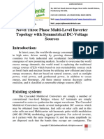 Novel Three Phase Multi-Level Inverter Topology With Symmetrical DC-Voltage Sources