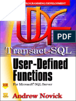 Transact-SQL User-Defined Functions for MSSQL Server