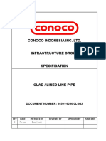 Clad-lined Line Pipe