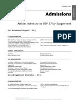 Admissions USP37
