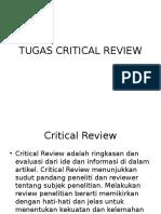Panduan Tugas Critical Review