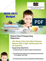 Budget Presentation for Board Meeting June 3, 2010