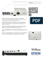 Epson EB-1751 3LCD Portable Business Projector Datasheet