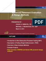 Advanced Pavement Evaluation & Design Methods