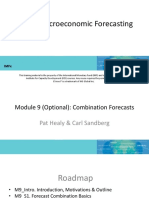 Combination Forecasts