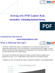 HFM Calculating Retained Earning
