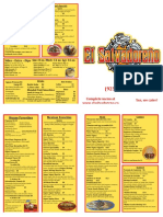 El Salvadoran Restaurant to Go menu