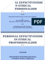 6 Personal Effectiveness in Ethical Professionalism