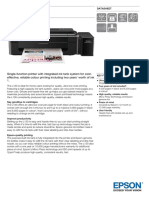 Epson L130 A4 Single Function Colour Printer Datasheet