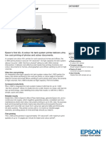 Epson L1800 A3+ Colour MultiFunction Ink Tank System Printer datasheet