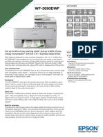 Epson WorkForce Pro WF-5690DWF All-in-One Business Inkjet Printer datasheet
