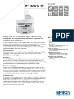 Epson WorkForce Pro WF-8090DTW All-in-One Business Colour Inkjet Printer datasheet