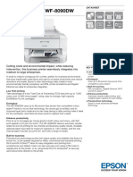 Epson WorkForce Pro WF-8090DW All-in-One Business Inkjet Printer datasheet