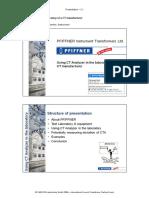 CT Analyzer Laboratory Experiences Paper ICTTF 2009 Schaer ENU