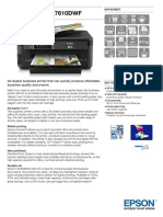 Epson Workforce WF-7610DWF A3 4-in-1 Wireless Inkjet Printer with Duplex datasheet