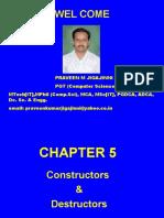 5 Constructors and Destructors