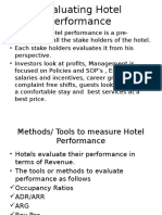 Evaluating Hotel Performance
