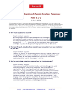 109 Interview Questions and Answers