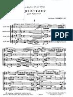 Alfred Desenclos - Quatuor [Sax Quartet SATB]