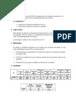 Incidencia de PRRS en Saracoto Alto