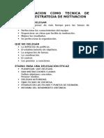 -----La Delegacion Como Tecnica de Gestión y Estrategia de Motivacion