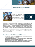 Endurance Technology IPO
