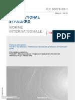 IEC 60079-29-1 Gas Detectors – Performance Requirements of Detectors for Flammable Gases-2007
