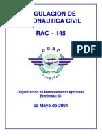 RAC 145 - DGAC - Actualizado Mayo 04