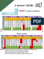 Calendar Scolar 2016 - 2017 (1)