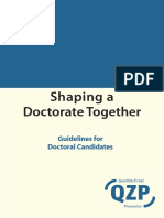 Shaping a Doctorate Together