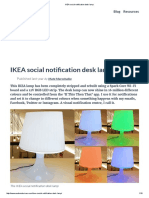IKEA Social Notification Desk Lamp