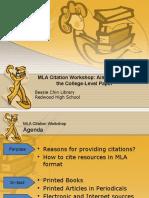 mla workshop presentation