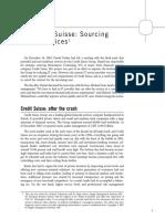 Credit Suisse - Sourcing IT Services
