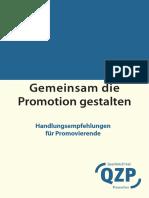 Promotionshandbuch 2012 - Deutsch Promovierende