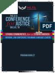 2016 Leadership Conference for Justice - Program Booklet