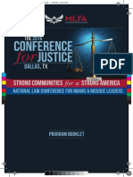 2016 Leadership Conference for Justice - Program Booklet
