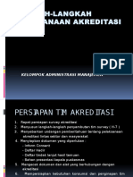 Langkah-langkah Pelaksanaan Akreditasi
